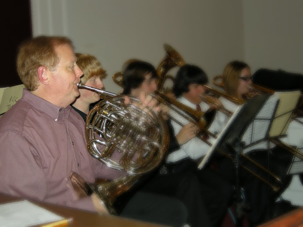 Brass Players In the Christmas Band