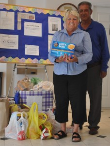 Food goods are delivered to the Somerset Country Food Bank